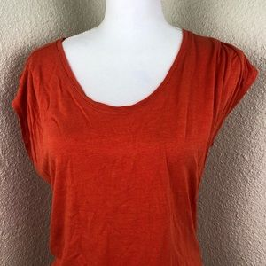 CAbi Tops - CAbi Orange U Neck Tee Top Size Small Summer